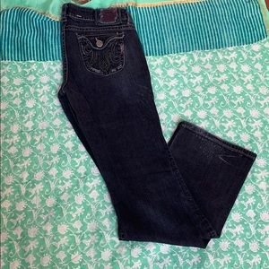 Vintage Women's Distressed Gray Bootcut Jeans
